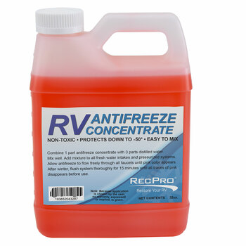 RV Antifreeze Concentrate 1:3 Ratio Makes 1 Gallon
