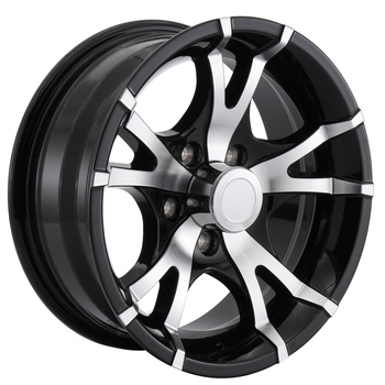 RV Aluminum Wheel for Trailers and Towables Black Machine Finish - T07