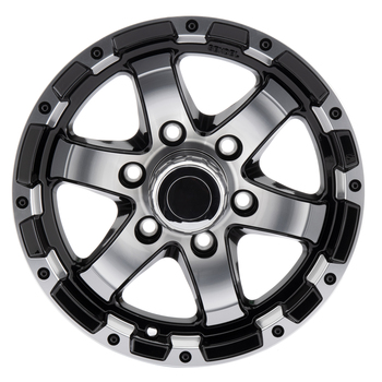 RV Aluminum Wheel for Trailers and Towables Black Machine Finish - T08