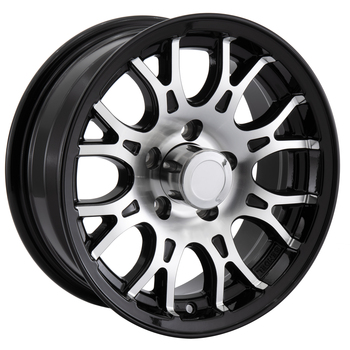 RV Aluminum Wheel for Trailers and Towables Black Machine Finish - T16