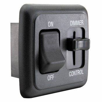 RV 12V DC Toggle Switch with High-Side Dimmer Control