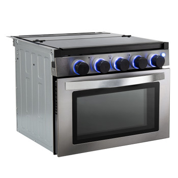 "RV Stove Gas Range 17"" with Optional Range Vent Hood"