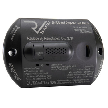 RV LP Propane Gas Detector with CO Carbon Monoxide Alarm
