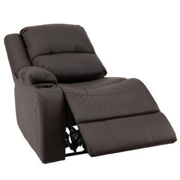 "RecPro Charles 29"" Powered Left Arm Recliner Modular RV Furniture Reclining Luxury Lounger in Ultrafabrics® Brisa®"