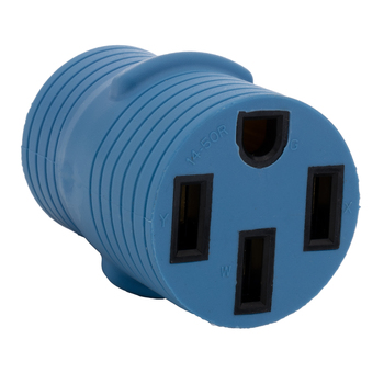 RecPro RV Power Plug Adapter 30A Male to 50A Female