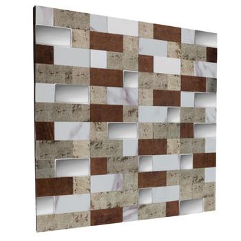 "RV Backsplash Sand Mosaic Tile 12"" x 12"" Peel and Stick"