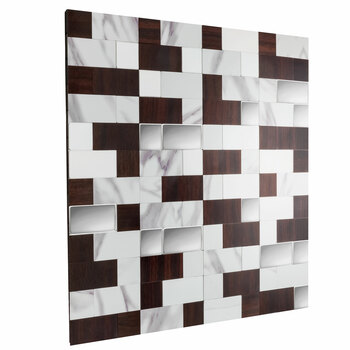 "RV Backsplash Marble Mahogany Tile 12"" x 12"" Peel and Stick"