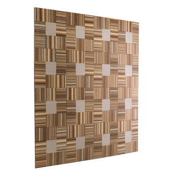 "RV Backsplash Woven Bamboo Tile 12"" x 12"" Peel and Stick"