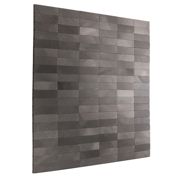 "RV Backsplash Gray Slate Tile 12"" x 12"" Peel and Stick"