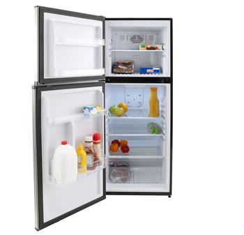 RV Refrigerator 11.4 Cubic Feet 12V Stainless Steel