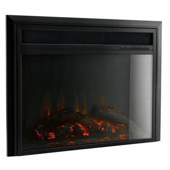"""RV Electric Fireplace with Flat Glass 26"""" (24"""" Cutout)"""