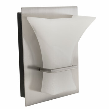 RV Wall Sconce Frosted Glass Silver Finish LED Light