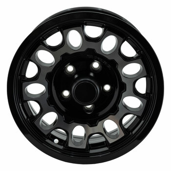 RV Aluminum Wheel for Trailers and Towables Black Machine Finish - T17