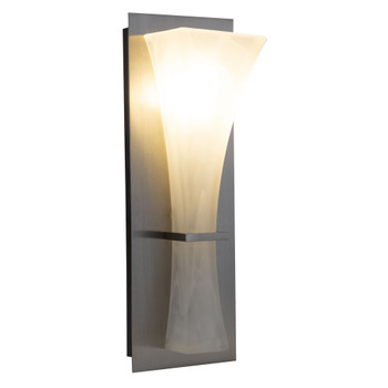 RV Wall Sconce Tall Frosted Glass Silver Finish LED Light