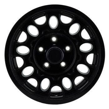 RV Aluminum Wheel for Trailers and Towables Matte Black Finish - T17