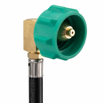 GasGear by GasStop RV Propane Pigtail with 90° Connector