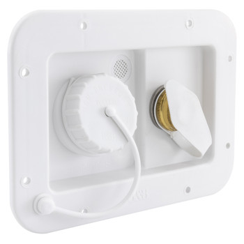 RV City Water Fill and Gravity Fill Hatch Combo White