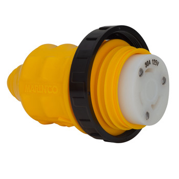 Marinco 30 Amp 125V Female Connector with Boot Cover Up