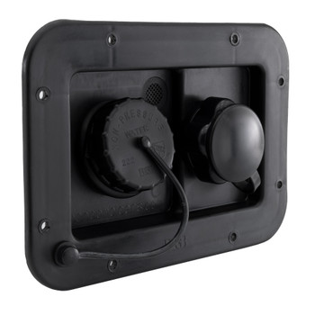 RV City Water Fill and Gravity Fill Hatch Combo Black