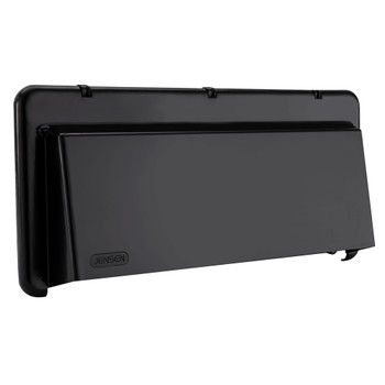 RV Range Vent Exterior Cover with Locking Damper Black