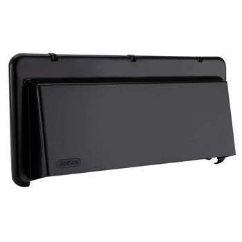 RV Range Vent Exterior Cover with Locking Damper Black