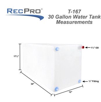 30 gallon RV water tank