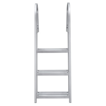 AL-A3 Aluminum Three Step Angled Pontoon Boat Boarding Ladder
