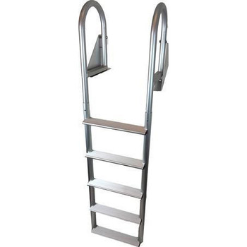 ADL-C5W Aluminum Five Step Flip Up Dock Pier Ladder
