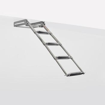"SSL-E4W Stainless Steel Under Transom/Boat Platform Ladder (13.5"" Wide Steps)"