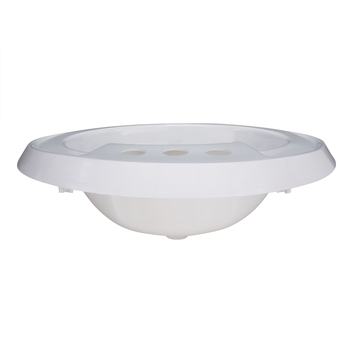 Oval RV Sink White