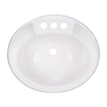 Oval RV Sink White