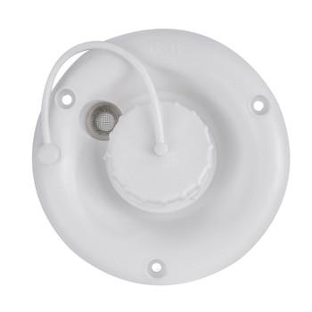 White RV Round Fresh Water Gravity Fill Hatch