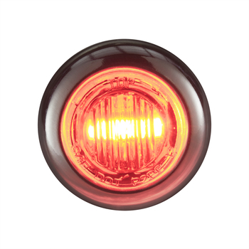 "3/4"" Clear/Red LED Clearance Marker Bullet Lights"