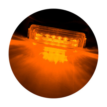 "4"" x 1"" Rectangle RV LED Marker Light Amber/Amber"
