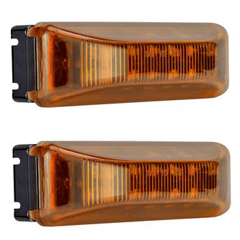"""4"""" x 1"""" Rectangle RV LED Marker Light Amber/Amber"""