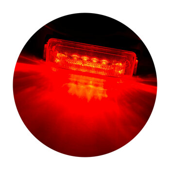 "4"" x 1"" Rectangle RV LED Marker Light Red/Red"