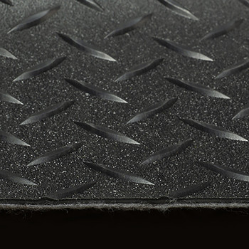 "8'2"" Diamond Pattern RV Flooring In Black"