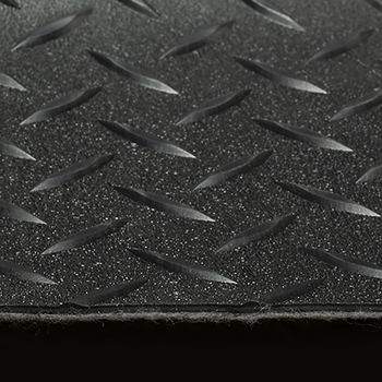 "8'6"" Diamond Pattern RV Flooring In Black"