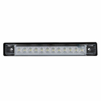 "RV 6"" Slim Line LED Utility Strip Light Clear Lens - White"