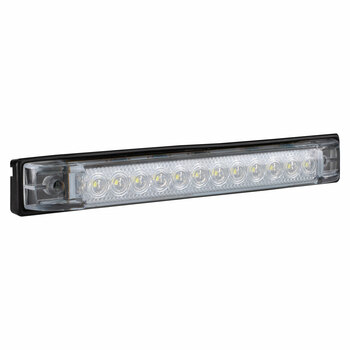 """RV 6"""" Slim Line LED Utility Strip Light Clear Lens - White"""