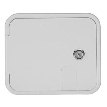 Lockable Power Cord/Water Inlet Hatch
