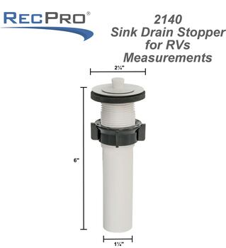 Sink Drain Stopper for RVs in White