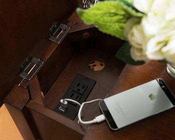 RV Side Table with USB Charging Station