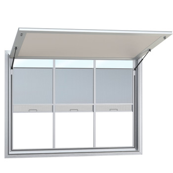 Concession Stand Windows and Awnings with 3 Vertical Lift Windows