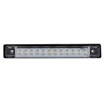 "RV 6"" Slim Line LED Utility Strip Light Clear Lens - Red"