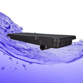 "40 Gallon Black Waste Water RV Holding Tank Right Side Drain 63"" x 25"" x 9 1/8"""