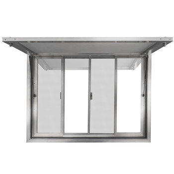 Concession Stand Trailer Serving Window w/ Awning Cover