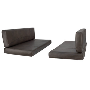 "Charles Style RV Dinette Cushions 38"" to 44"" with Suprima Leather and Memory Foam"