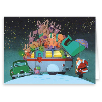 Christmas Cards - Camper and Santa - 18 Cards & Envelopes