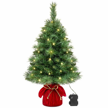 "26"" Pre-Lit Tabletop Fir Artificial Christmas Tree - Battery Operated"